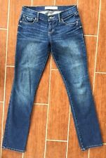 Abercrombie and Fitch Jr Jeans Size 2R Perfect Stretch Lightly Distressed 26/33