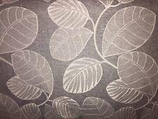 LILAC CURTAIN FABRIC 10m Leaf Design Lavender Ecru