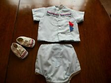 Vintage 1970 Sears Infant Baby Boy Sailor Outfit with Shoes