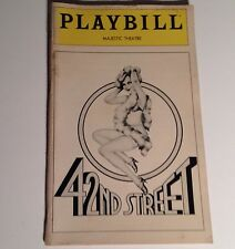 Playbill 42nd Street 1981 Majestic Theatre Jerry Orbach Broadway NYC Theater