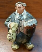 Vintage 1988 Sara Meadows Clay Banker Sculpture