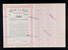 """MEXICO C/10 AZUCAR S.A DE C.V. 100 acciones Titulo de $1,000,000.00 """"Sugar cana"""""""