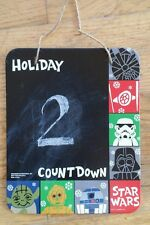 FORCE AWAKENS 2015 STAR WARS HOLIDAY CHRISTMAS COUNT DOWN CHALK BOARD TOY
