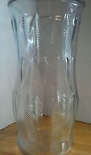 E.O. Brody Clear Glass Vase with Wheat Stalk Pattern  C973