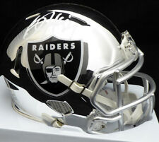 BO JACKSON AUTOGRAPHED SIGNED RAIDERS CHROME SPEED MINI HELMET BECKETT 136196