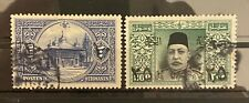 More details for turkey ottoman 1915 al ghazi surcharged stamps complete set sg #534/535