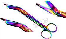 725 Ent Lister Bandage Scissors Shears German Premium Rainbow Nurse Shears