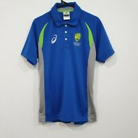 Cricket Australia ASICS Team Blue Polo Shirt Size Small