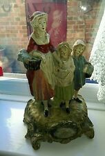 Antique Yardley  lavender Advertising lady & two girls figure chemist display