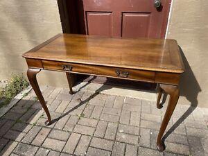 Vintage Globe Furniture Queen Anne Style Walnut Writing Desk
