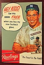 Mickey Mantle Rawlings Glove Ad Postcard