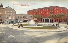 F75/ Somerset Kentucky Postcard 1910 Fountain Square Newtonian Hotel