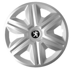 "15"" Peugeot Partner 307 308 207 208 WHEEL TRIMS HUB CAPS SET OF 4 x15'' - silver"