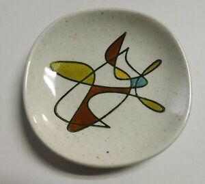 "1 RARE Metlox FREEFORM Pattern Pottery 4"" Coaster Poppytrail Mid-Century Modern"