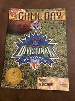 1998 JANUARY 4 PACKERS VS BUCCANEERS DIVISIONAL PLAYOFFS PROGRAM NICE RARE