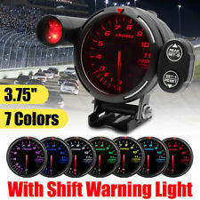 7 Colors 3.5'' Car LED RPM Tachometer Tacho Gauge Rev Counter With Shift Light