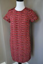 NWT J Crew Collection Crimson Tweed Dress Sz 0 XS $550 Retail GORGEOUS