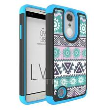 Fits LG K4 2017 Case Shockproof Aztec Native Tribal Free Spirit Cover - Blue