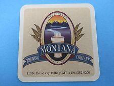 Beer COASTER ~ MONTANA Brewing Company & Restaurant ~ Billings, MT ~ Opened 1994