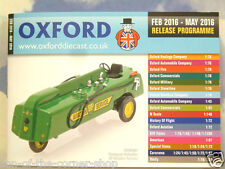 Oxford Diecast 48 página Bolsillo catálogo Febrero a Mayo 2016 programa de liberación