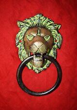 Antique Handmade Design Brass Lion Face Knocker Vintage Style Door Bell RV67