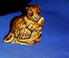 Wade Figurine Beaver*Whimsies Red Rose American Series #2 ~1985-1994 Euc.