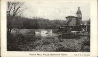 Seymour CT Plush Mill Falls c1910 Postcard