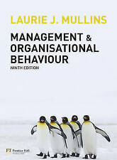 Management and Organisational Behaviour by Laurie J. Mullins (Paperback, 2010)