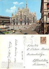 Milano Piazza Duomo anno 1966 TIMBRO FERROVIA (R-L 128)
