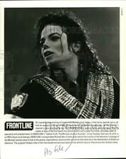 "1994 Press Photo Singer Michael Jackson in Frontline's ""Tabloid Truth"""