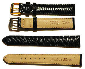 Lizard Watch Band, Silver or Gold Buckle