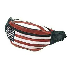 Leather Hip Pack, USA Flag Bag