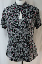 East 5th, Large Black Printed Top, New without Tags