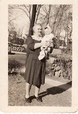 Vintage Original Photo Black White of Grandma & Baby, Grandmother, 1930's