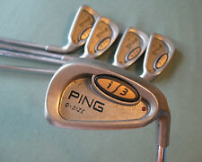 PING i3 O-SIZE IRON SET MAROON DOT 2 4 6 8 + WEDGE 5 CLUBS JZ STIFF matched #