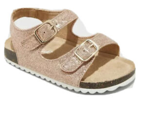 Toddler Girls' Tisha Footbed Sandals - Cat & Jack™ ROSE GOLD , - size 11