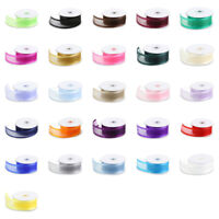 "Organza Ribbon 25 Yd Yard Roll 3/8"" 5/8"" 7/8"" 1.5"" 1 1/2 in Inch Wide"