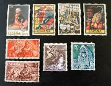 Spain España 🇪🇸 - 8 used stamps