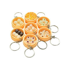 1X Simulation Food Key Chains Keyring Creative Fake Steamers Lanyard Keychain WB