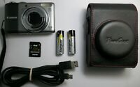 Canon PowerShot A2000 IS 10.0MP Digital Camera + 4 GB Memory Card & Camera Case