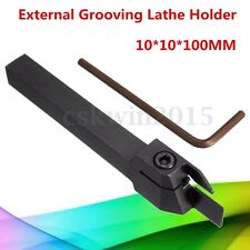 MGEHR1010-1.5 10*10*100MM External Grooving Lathe Cutting Tool Holder + Wrench