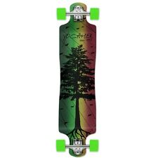 Yocaher Complete In The Pines Series Lowrider Longboard Rasta