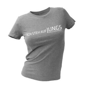 Barbara Schöneberger - Ich steh auf Jungs Girlie Shirt grau - Größe M - NEU