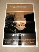 ALTERED STATES Vintage SCI-FI Movie Poster WILLIAM HURT KEN RUSSELL BLAIR BROWN