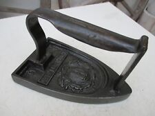 Vintage 1900s Cast Iron French Blazon Coal Ironing Clothes Press Herbulot Nº6