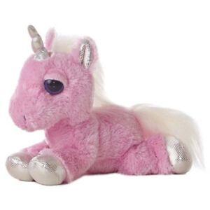 "10"" Dreamy Eyes Pink Unicorn - Heavenly Aurora Stuffed Animal Fun Toy Play Plus"