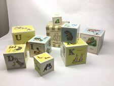 Rare 1950s Playskool Golden Book Nested Blocks 82G With Box