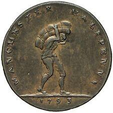 Lancashire Manchester Mezzo Penny token 1793
