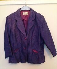 Original Vintage 1950s / 1960s Pretty Blue Lace Jacket / Blazer. Size M UK 12