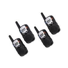 4Pcs LCD UHF Auto Channels Two-Way Radio Wireless Walkie Talkie T-388 Black